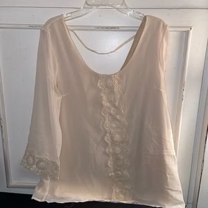 Charming Charlie Blouse with Lace Front Detail